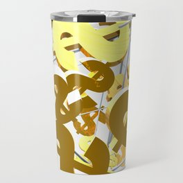 Golden dollar sign Travel Mug