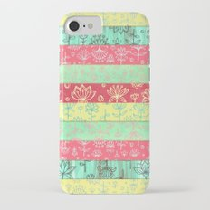 Lily & Lotus Layers in Mint Green, Coral & Buttercup Yellow iPhone 7 Slim Case