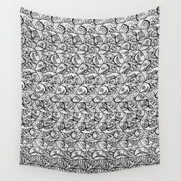 Escher Style Fishes in black & White Wall Tapestry