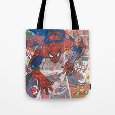 vintage comic spider man  Tote Bag