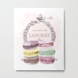 French Macaroon, Kitchen Art, Pastel Metal Print