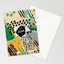 ROAR (wild cats) Stationery Cards