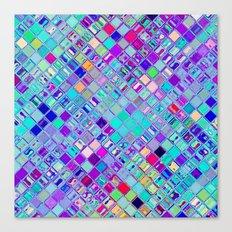 Re-Created  Mosaic No. ELEVEN by Robert S. Lee Canvas Print