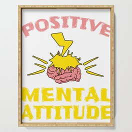 """Stay optimist with this cool and awesome """"Positive Mental Attitude"""" tee design. Makes a unique gift! Serving Tray"""