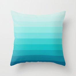 TURQUOISE GRADIENT Throw Pillow