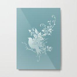 Flower Bird Metal Print