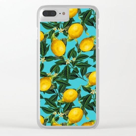 LEMON PATTERN-04 Clear iPhone Case