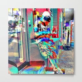 Lean In On 3rd Dimension Metal Print