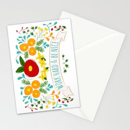 Work Hard & Be Nice Stationery Cards