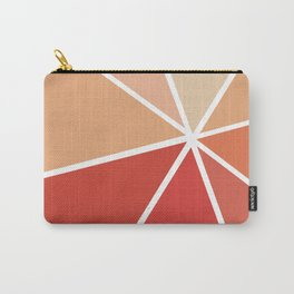 Star Burst in Red Carry-All Pouch