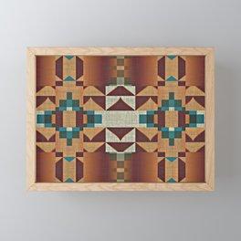 Native American Indian Tribal Mosaic Rustic Cabin Pattern Framed Mini Art Print