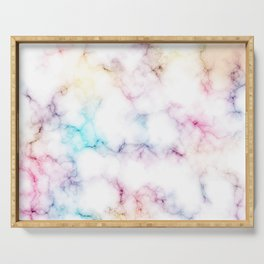 Rainbow Marble Pattern Serving Tray