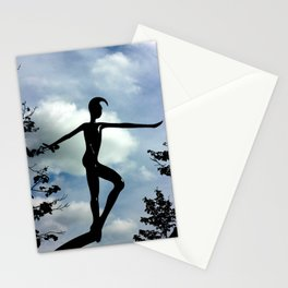 Statue in the sky Stationery Cards