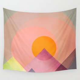 Sun in the mountains Wall Tapestry