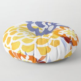 Bright Nature Abstract Floor Pillow