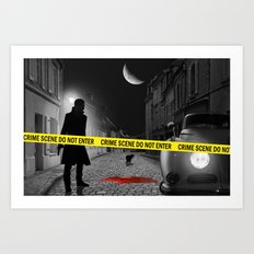 Crime scene do not enter Art Print