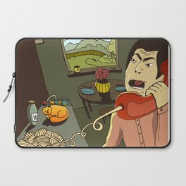 Asian kitchen, noodles and cat Laptop Sleeve
