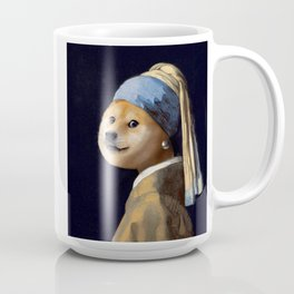 Doge with a Pearl Earring Coffee Mug
