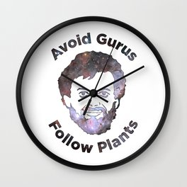 Terence Mckenna - Avoid Gurus, Follow Plants (Universe) Wall Clock