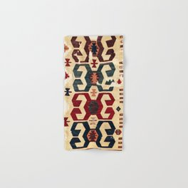 Nigde  Antique Cappadocian Turkish Kilim Fragment Print Hand & Bath Towel