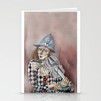 clown Stationery Cards featuring Clown by SilviaGancheva
