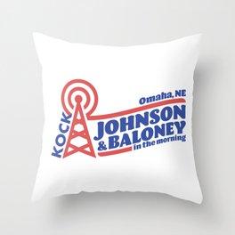 Johnson & Baloney Throw Pillow