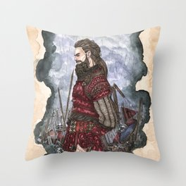 Tyr God of war and justice Throw Pillow