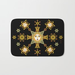Snowflake Stars collection  by ©2018 Balbusso Twins Bath Mat