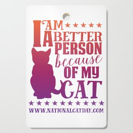 Cat Person Cutting Board