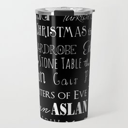 Narnia, Black Travel Mug