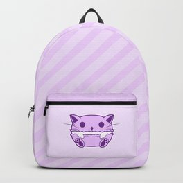Purple Kawaii Cat Macaroon Backpack