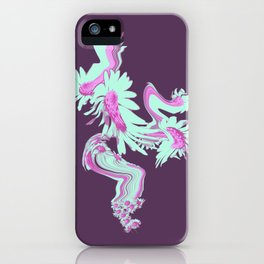Meadow Dreaming purple and mint iPhone Case