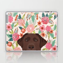 Chocolate Lab floral dog head cute labrador retriever must have pure breed dog gifts Laptop & iPad Skin