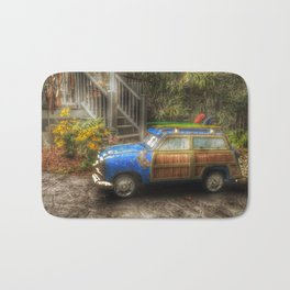 Off to Fulfill a Surfing Dream Bath Mat