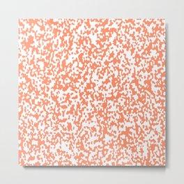 Speckled Orange Metal Print
