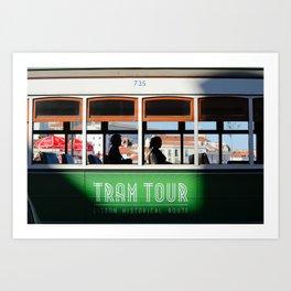 Lisbon Portugal tramway Art Print