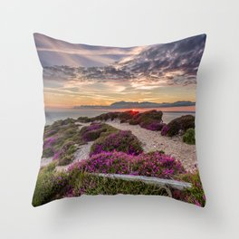Headon Hill Sunset Isle Of Wight Throw Pillow