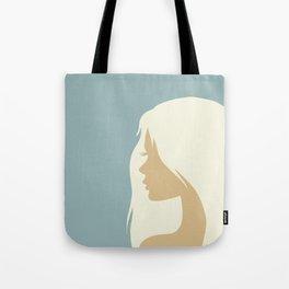 blonde girl in profile Tote Bag