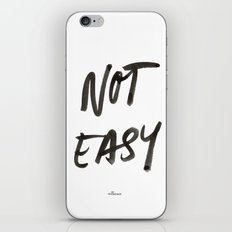 Not Easy iPhone & iPod Skin