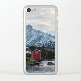 Lofoten winter Clear iPhone Case