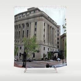 Providence, Rhode Island Masonic Temple Circa 1929 by Jeanpaul Ferro Shower Curtain