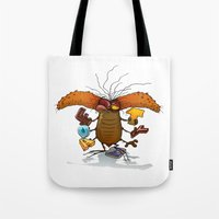 bookworm Tote Bags featuring Bookworm by Tayfun Sezer