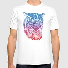 Owl of Color MEDIUM Mens Fitted Tee White
