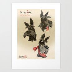 Scottie sketches Art Print