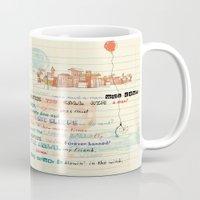 bob dylan Mugs featuring Bob Dylan by sandra conejeros