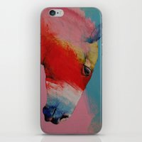 horse iPhone & iPod Skins featuring Horse by Michael Creese