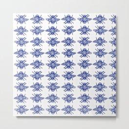 Blue Bees Metal Print
