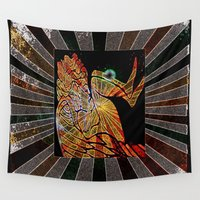 angels Wall Tapestries featuring Angels Twilight by Christa Bethune Smith