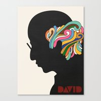 david fleck Canvas Prints featuring David by Nick Nelson