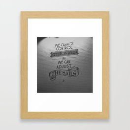 Lido words of wisdom Framed Art Print